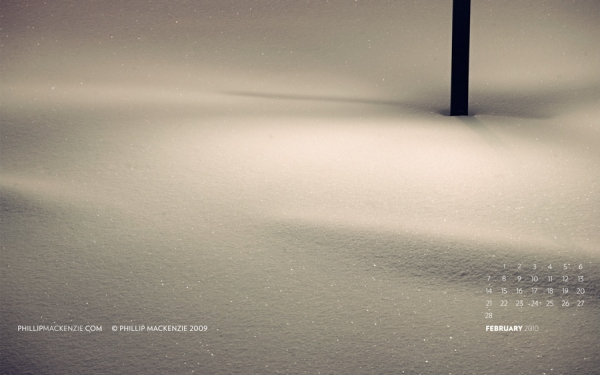 February 2010 Wallpaper - Photographer of Winter in State College, Pennsylvania